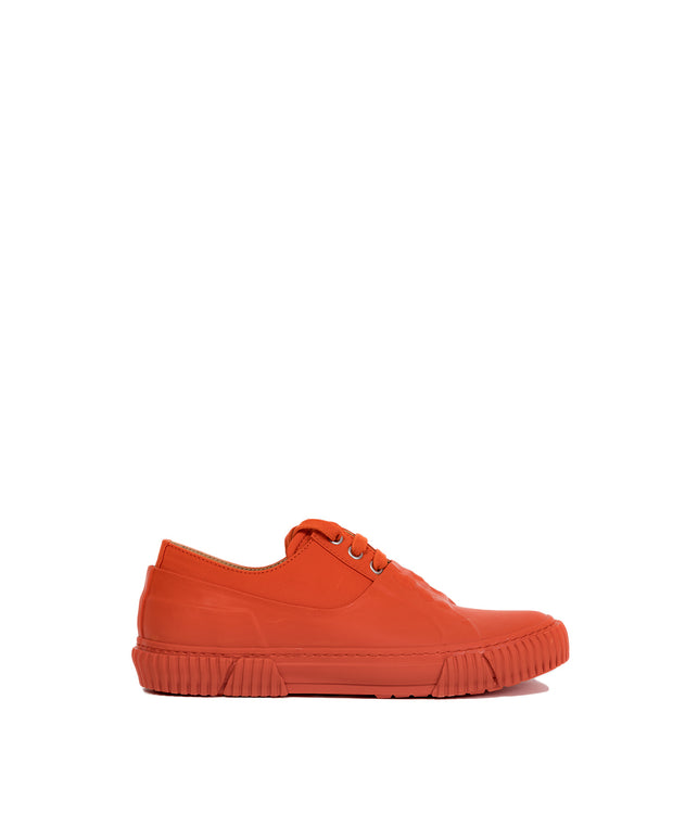 Orange Low-Top Sneakers