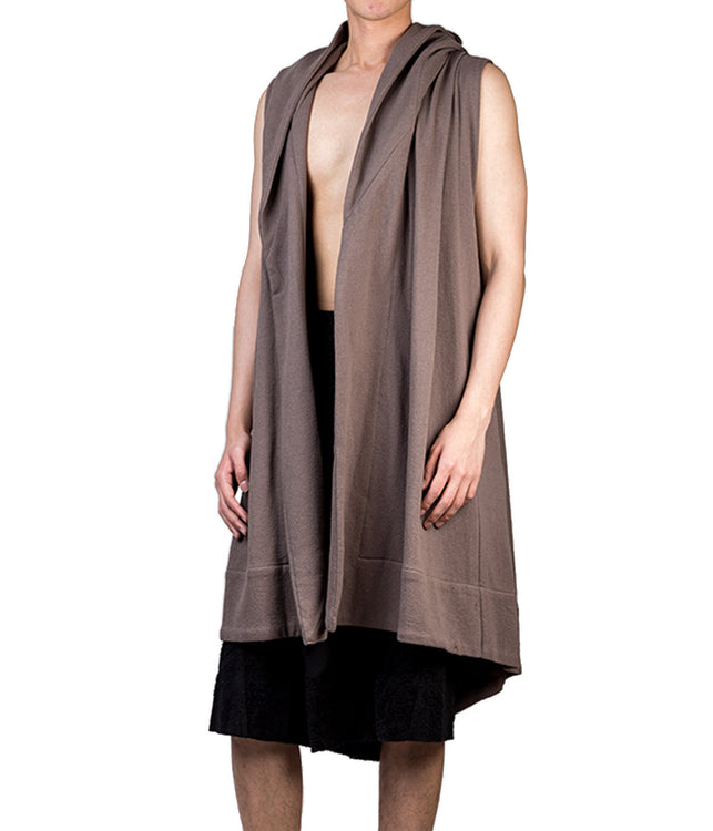 Draped Hooded Vest