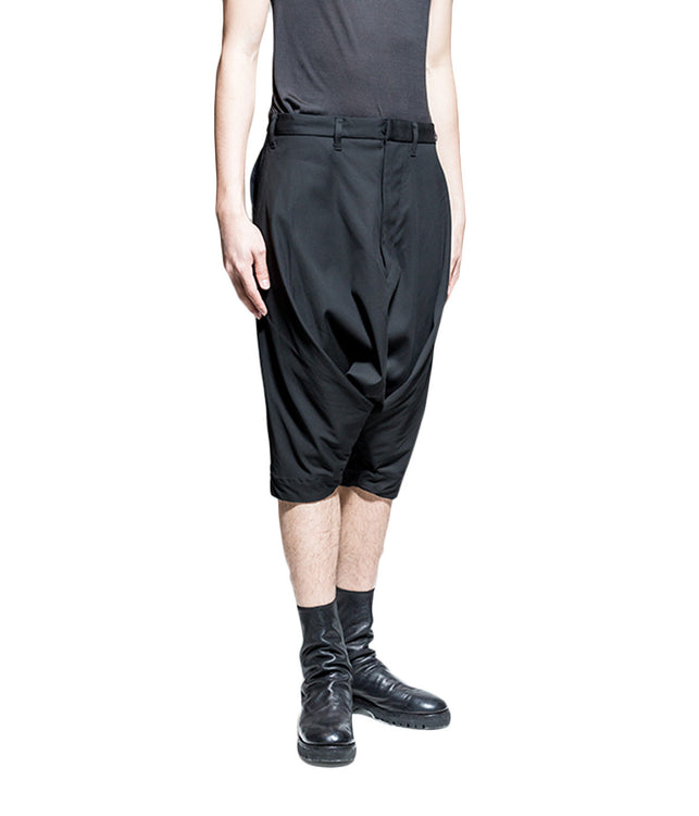 Dropped Crotch Tailored Shorts