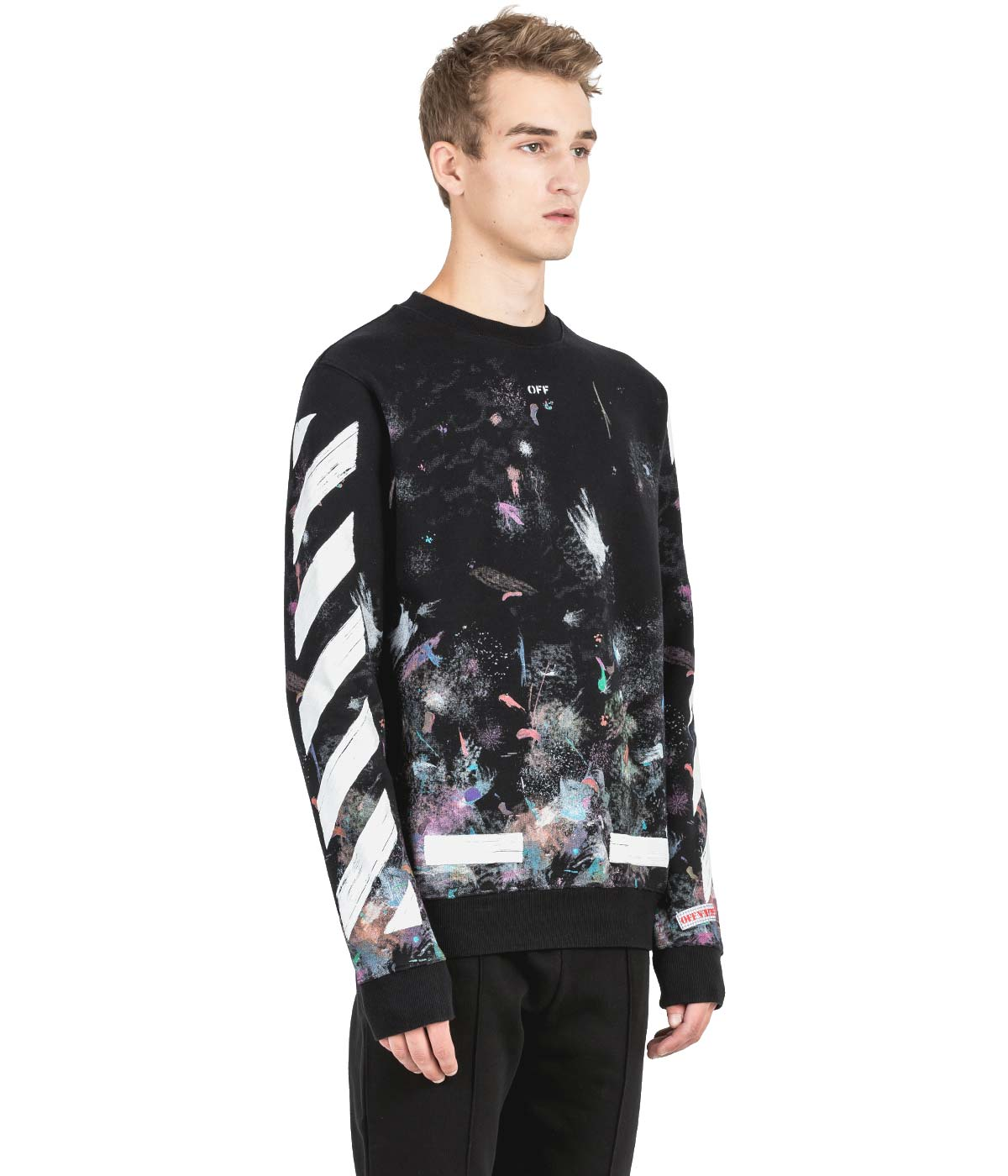 Black Brushed Galaxy Sweatshirt