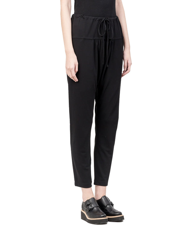 Black Drop Crotch Pants