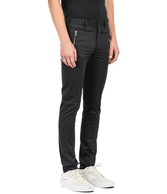 Black Zippered Pants