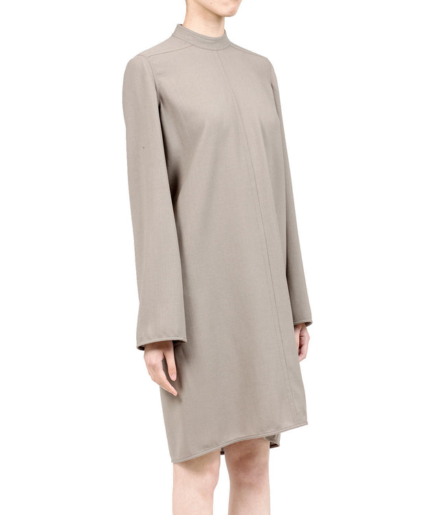 Dust Grey Wool Dress