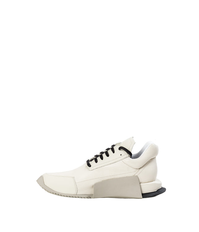 Ivory White Level Runner Low Cut Sneakers