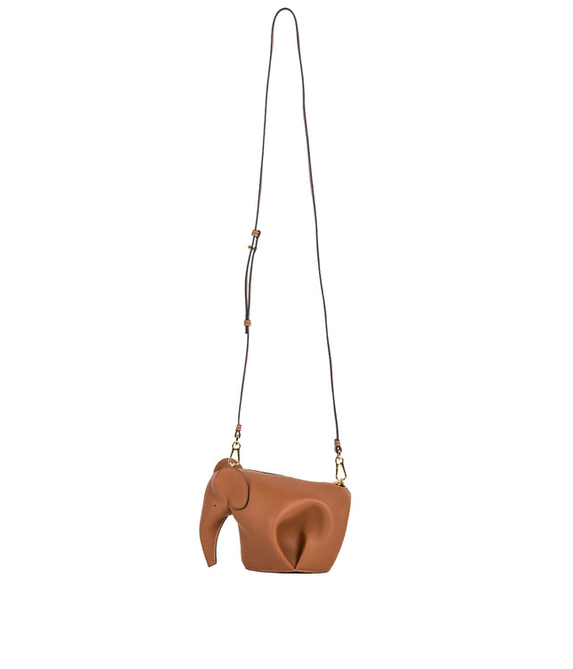 Tan Brown Elephant Mini Bag