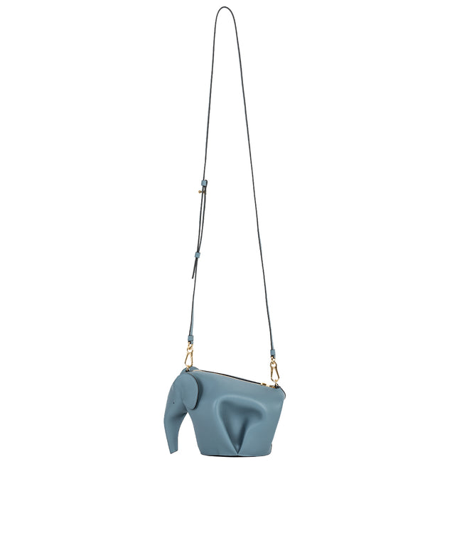 Stone Blue Elephant Mini Bag