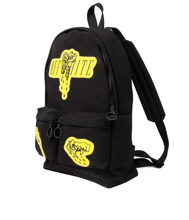 Black Patched Backpack