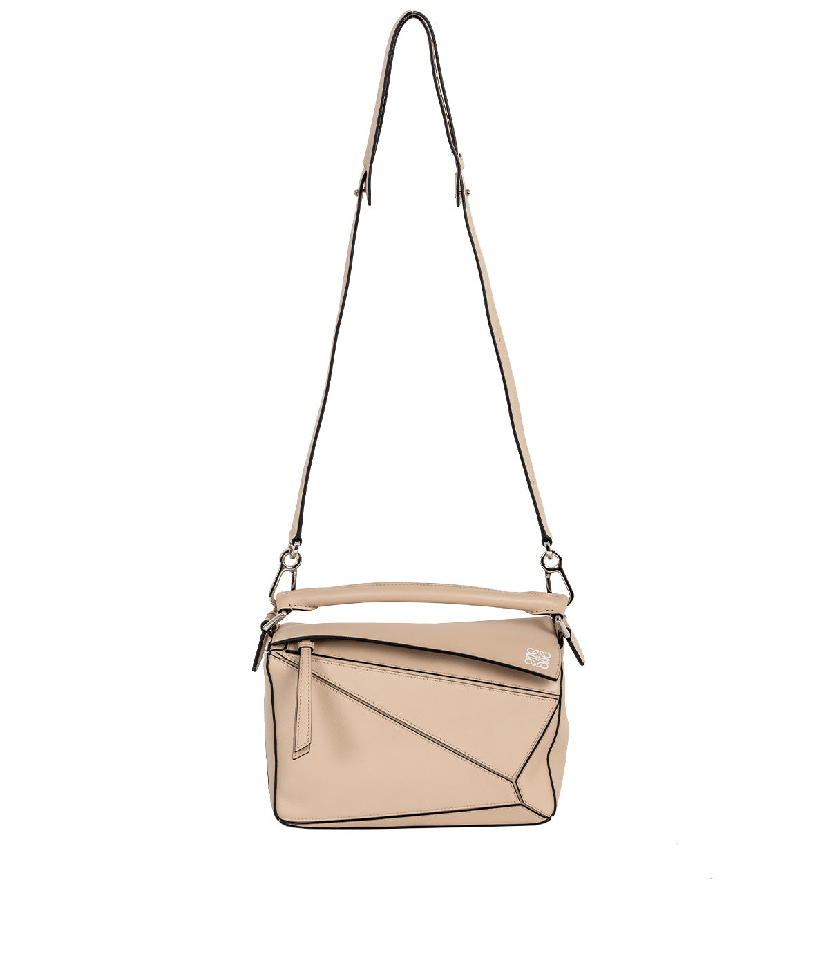 Ashe Beige Small Puzzle Bag