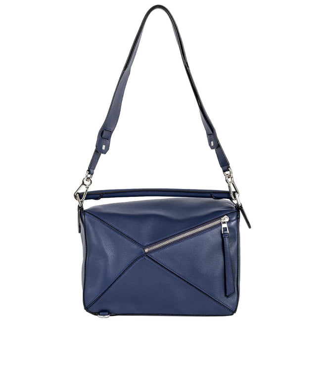Navy Puzzle Bag