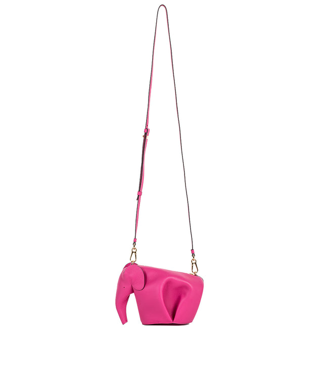 Fuchsia Pink Elephant Mini Bag
