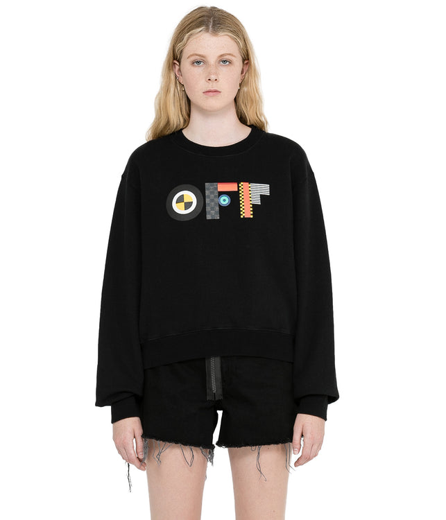 Black Flags Cropped Sweatshirt