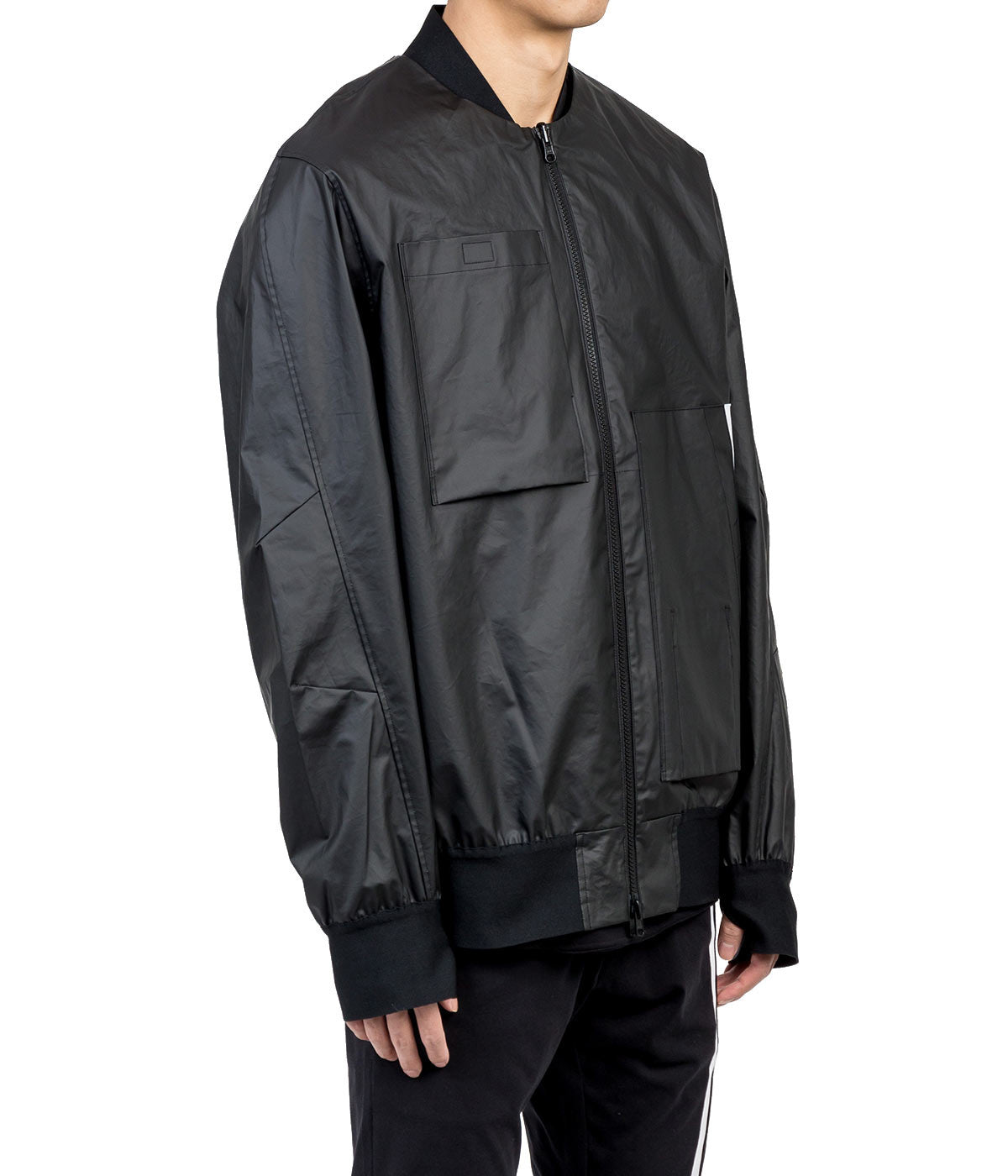 Matte Black Bomber Jacket
