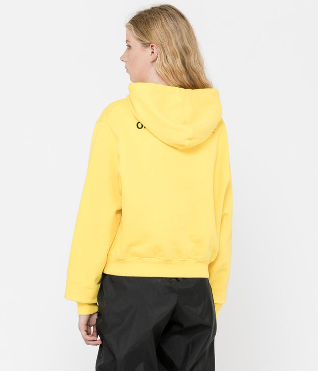 Yellow Quotes Cropped Hoodie