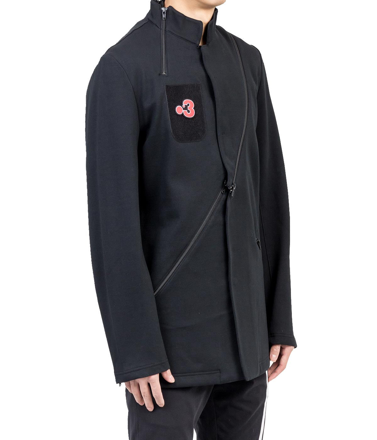 Black Seven-Zip Jacket