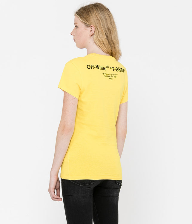 White Quotes Fitted T-Shirt
