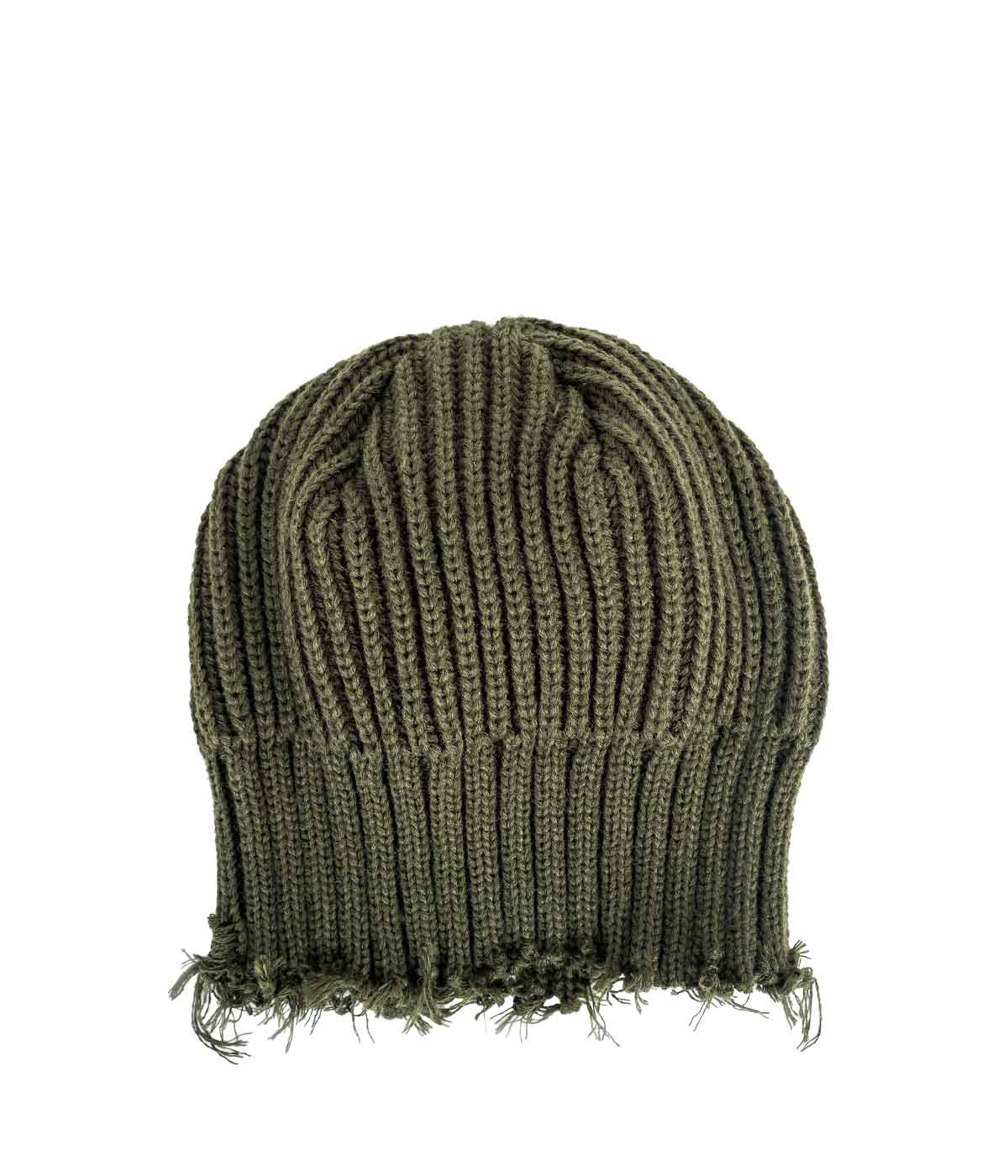 Khaki Distressed Beanie Hat