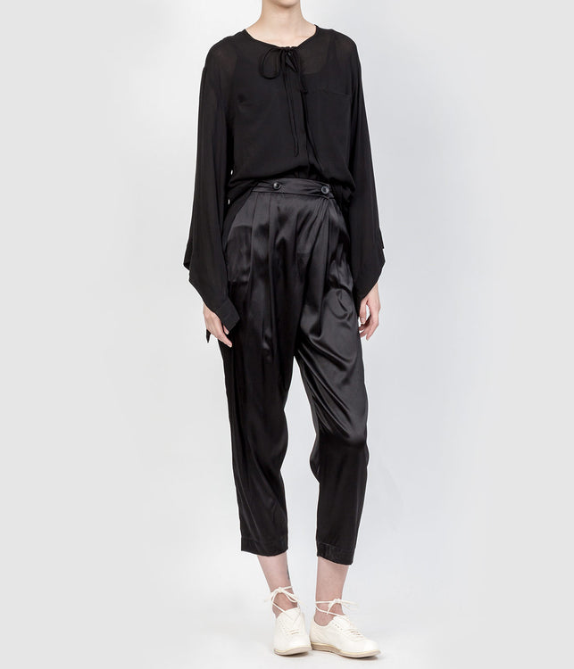 Black Silk Pants