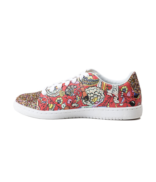 Floral & Glitter Sneakers