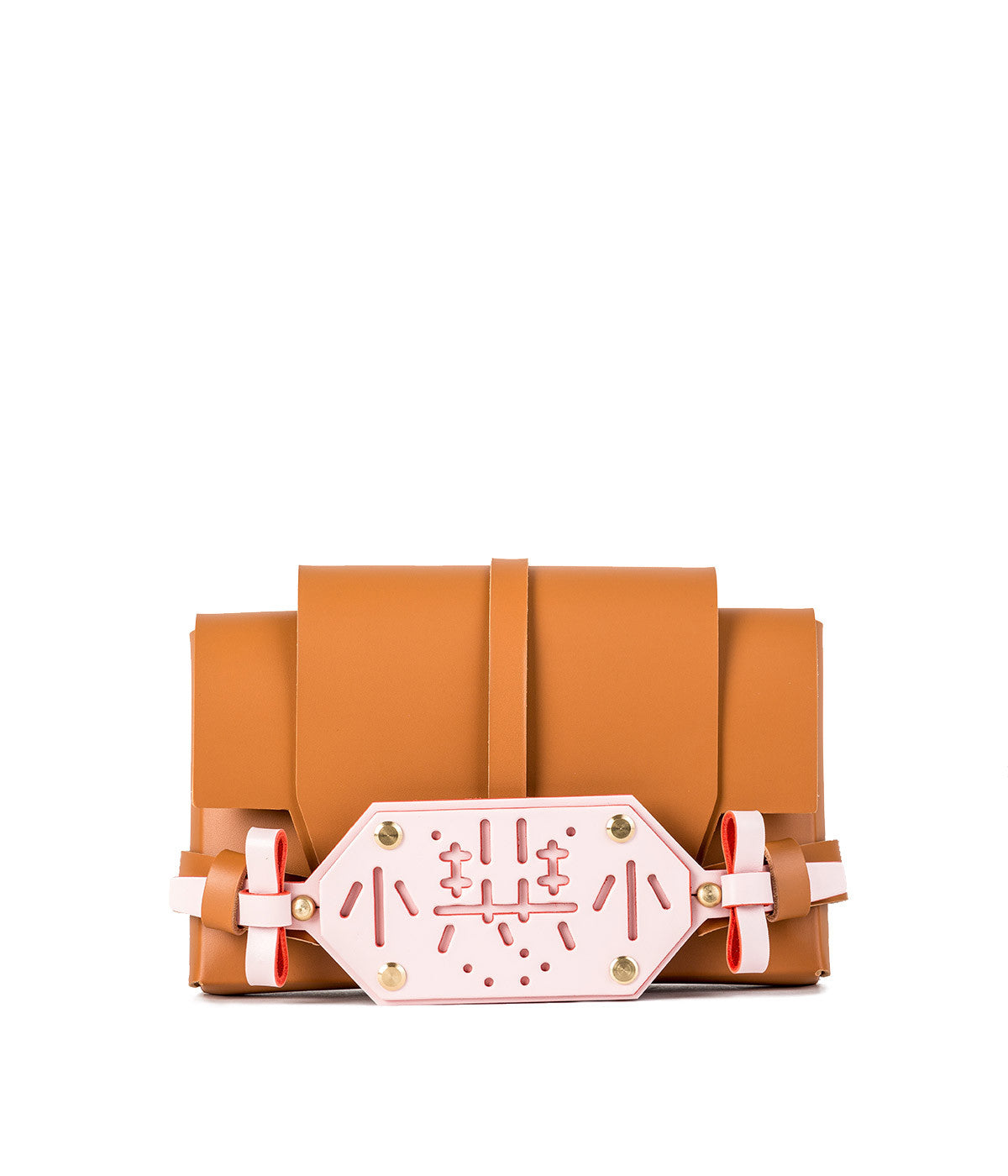 Cramel & Baby Pink Little Evil Clutch