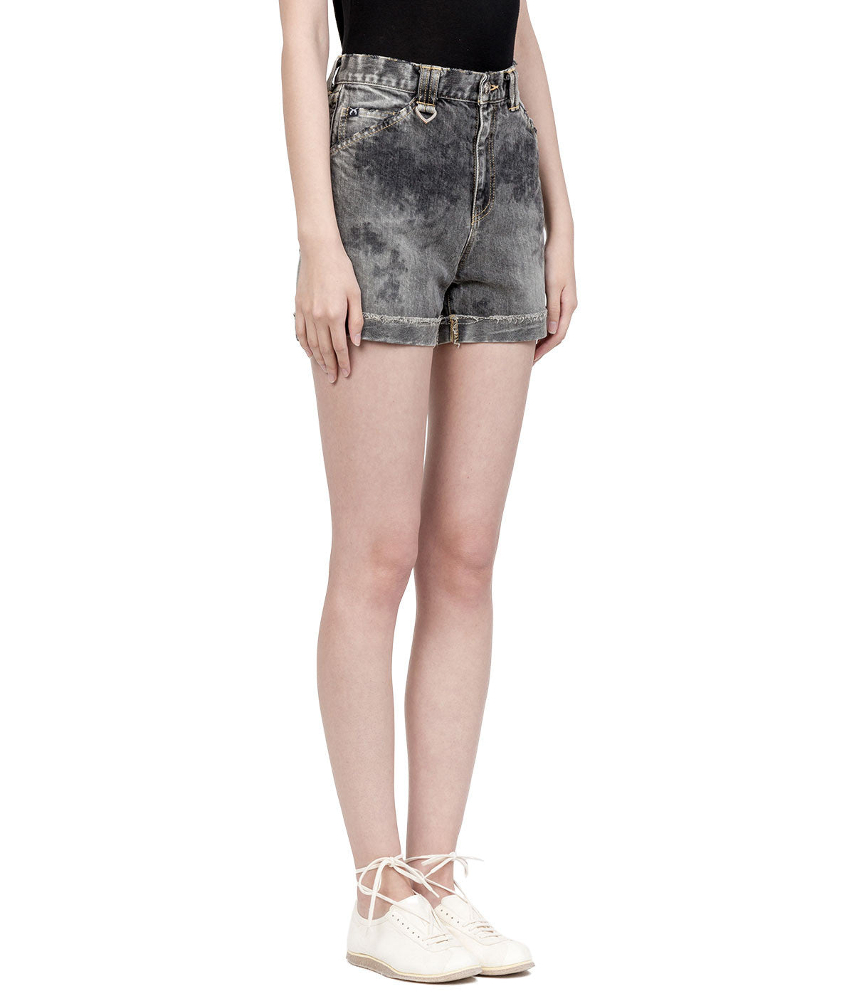 Light Grey Vintage Denim Shorts