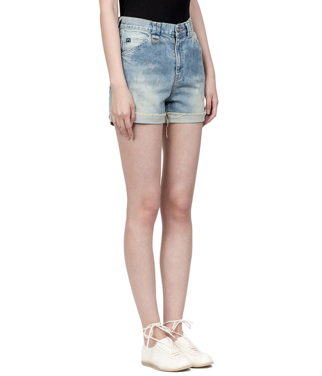 Light Blue Vintage Denim Shorts