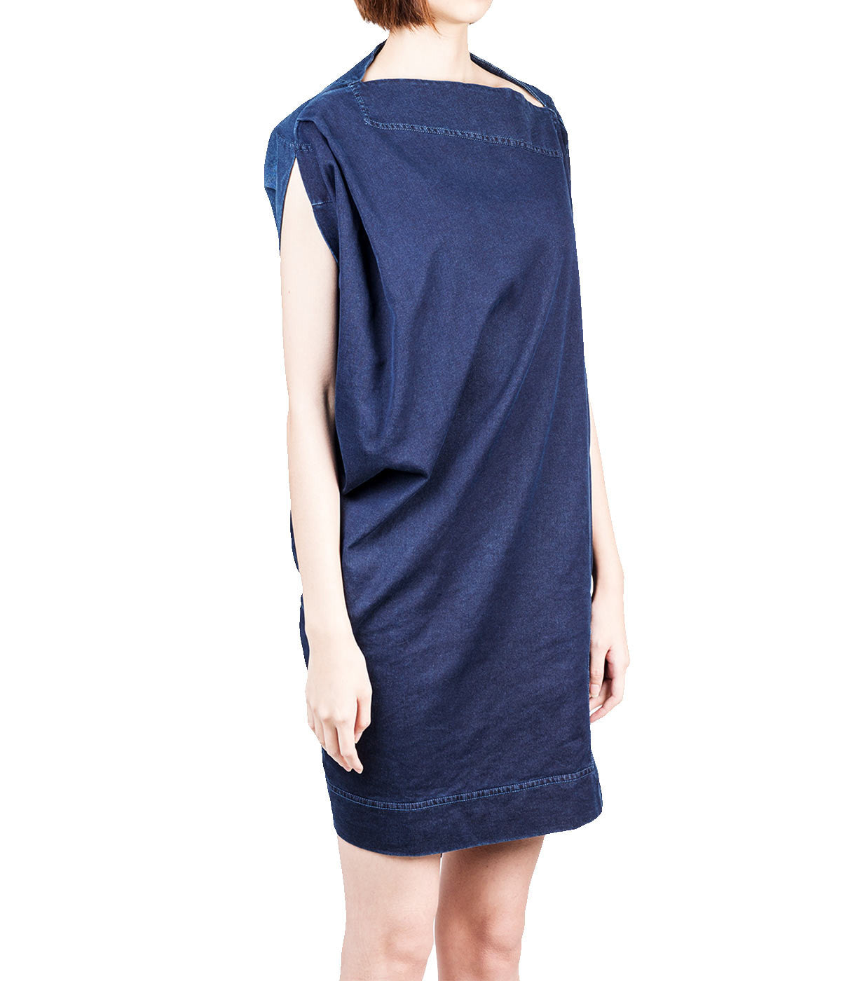 Asymmetrical French Terry Dress