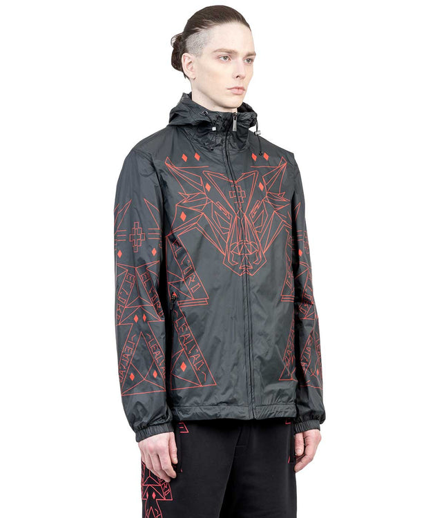 Black Marcelo Burlon x Lamborghini Windbreaker Jacket