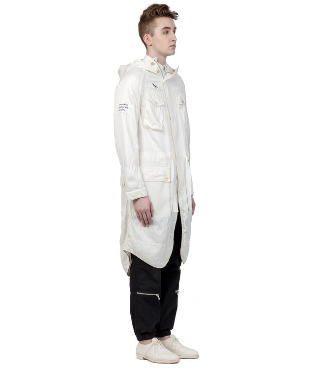 Ivory White Fish Tail Coat