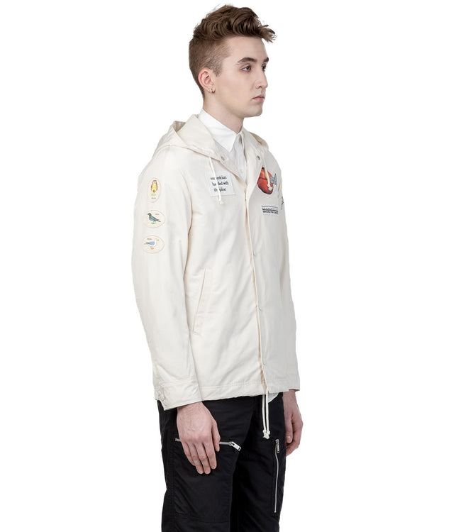 Ivory White Windbreaker Jacket