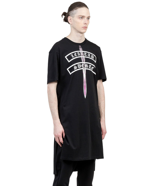 Black Salvadore Overlong T-Shirt