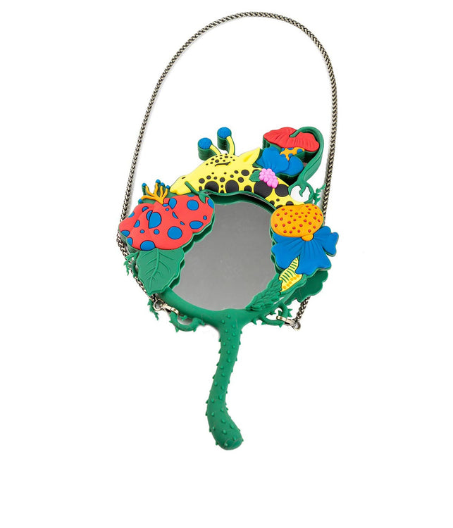 Green & Multicolored Giraffe Mirror