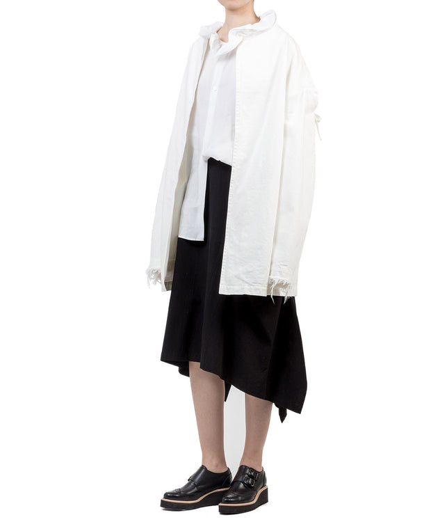 White U-Drop Canvas Jacket