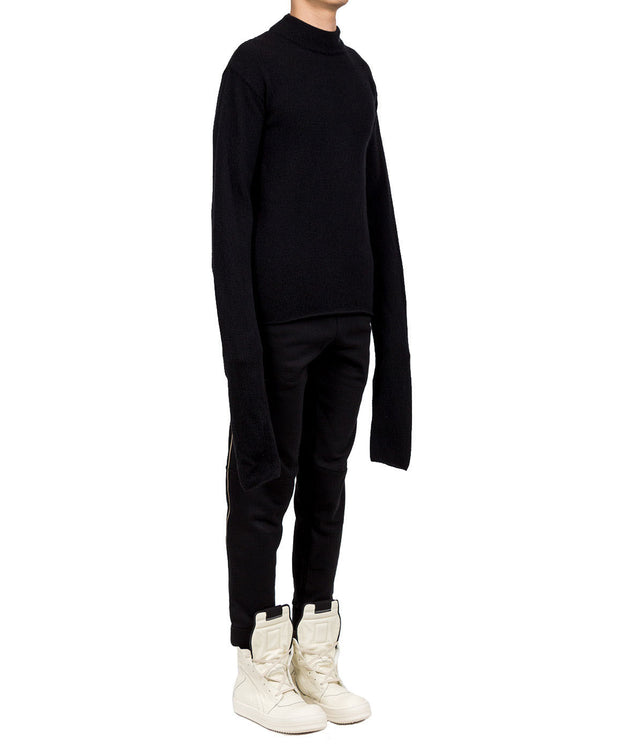 Logo Turtleneck Sweater with Extended Sleeves