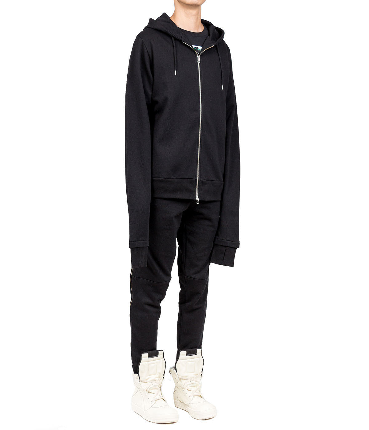 Crew Hoodie with Extended Arms