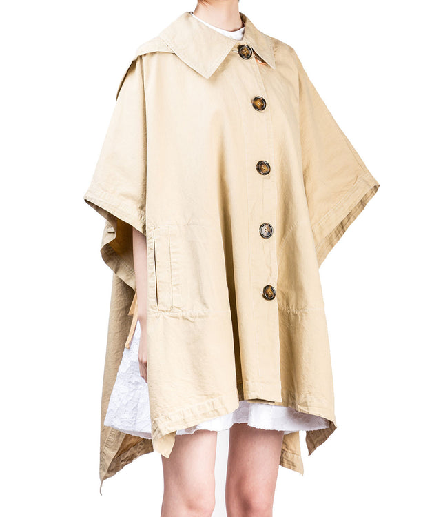 Sand Cotton Poncho