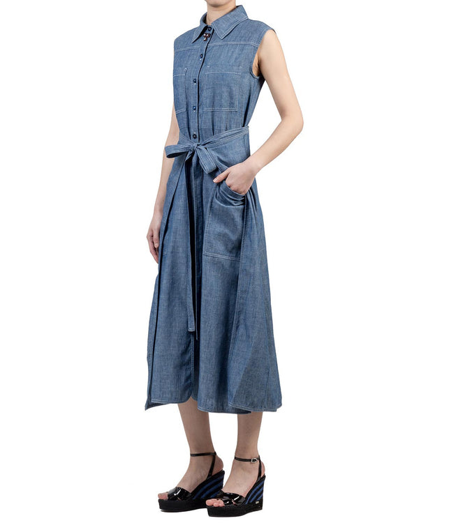 Denim Blue Apron Dress