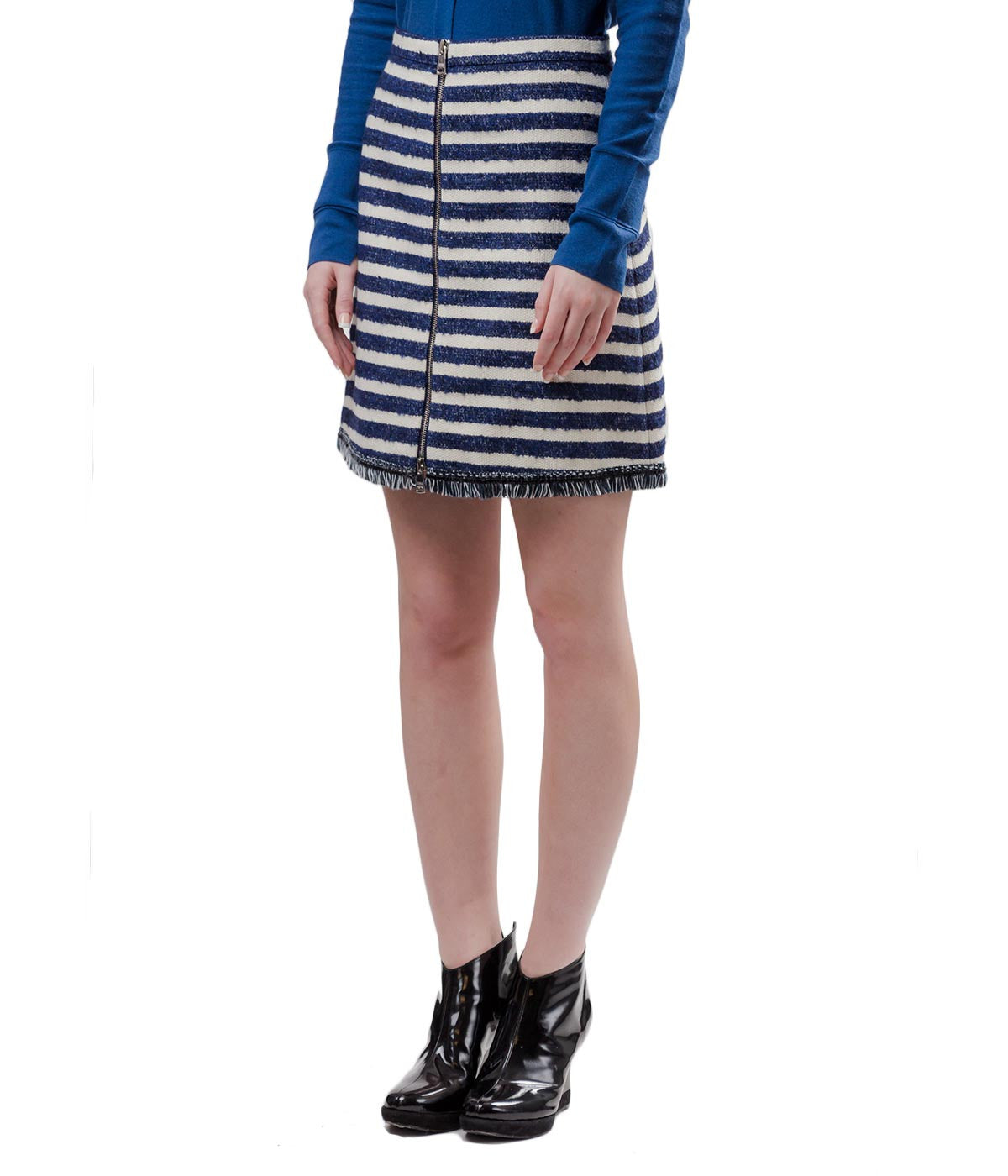 Striped Woven Skirt