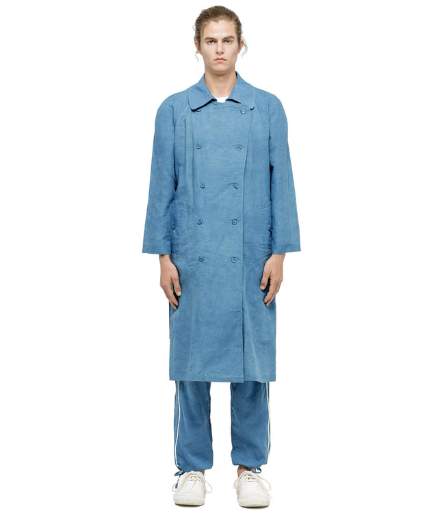 Indigo Neat Trench Coat