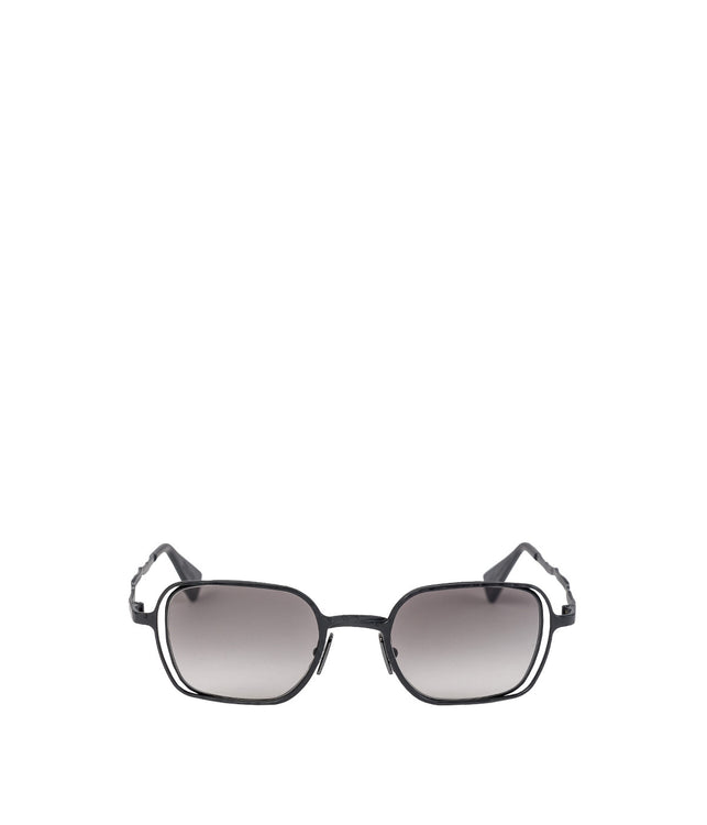 H12 Black Matte Metal Sunglasses