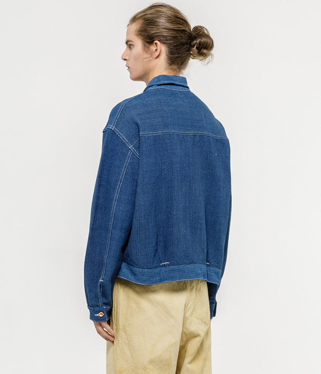 Handloomed Indigo Sundae Jacket
