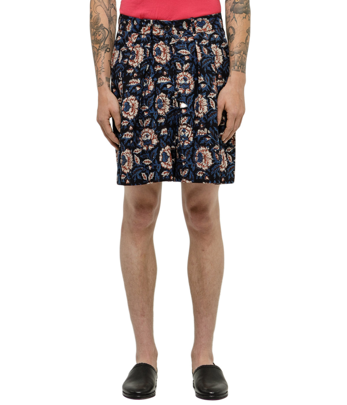 Floral Block Bridge Shorts