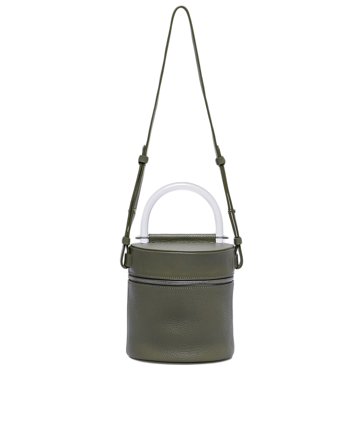 Light Khaki Green Drum Bag