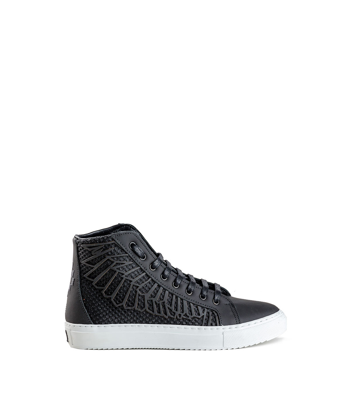 Black Wings Hig-Top Sneakers