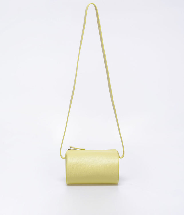 Lemon Yellow Cylinder Sling Bag