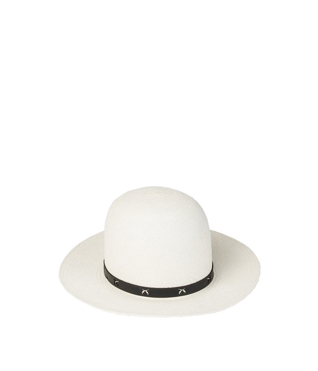 White Toquilla Straw Hat