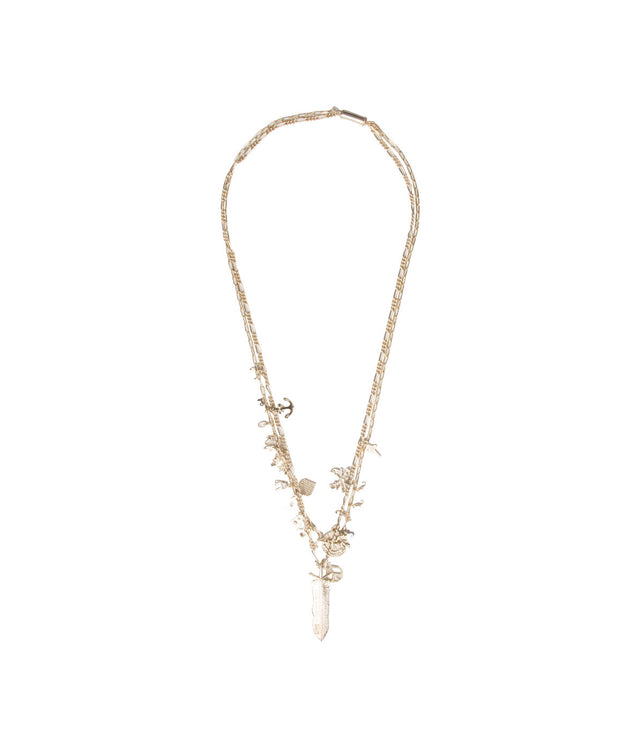 Gold-tone Charm Necklace