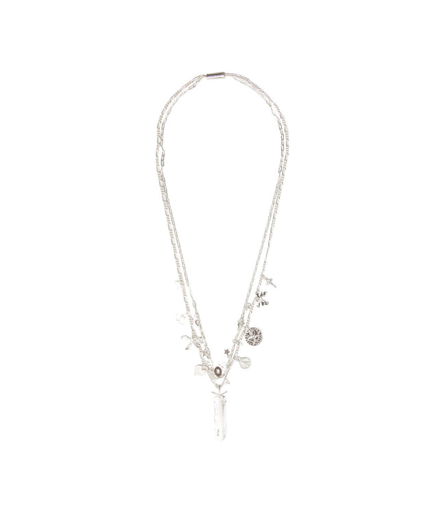 Silver-tone Charm Necklace