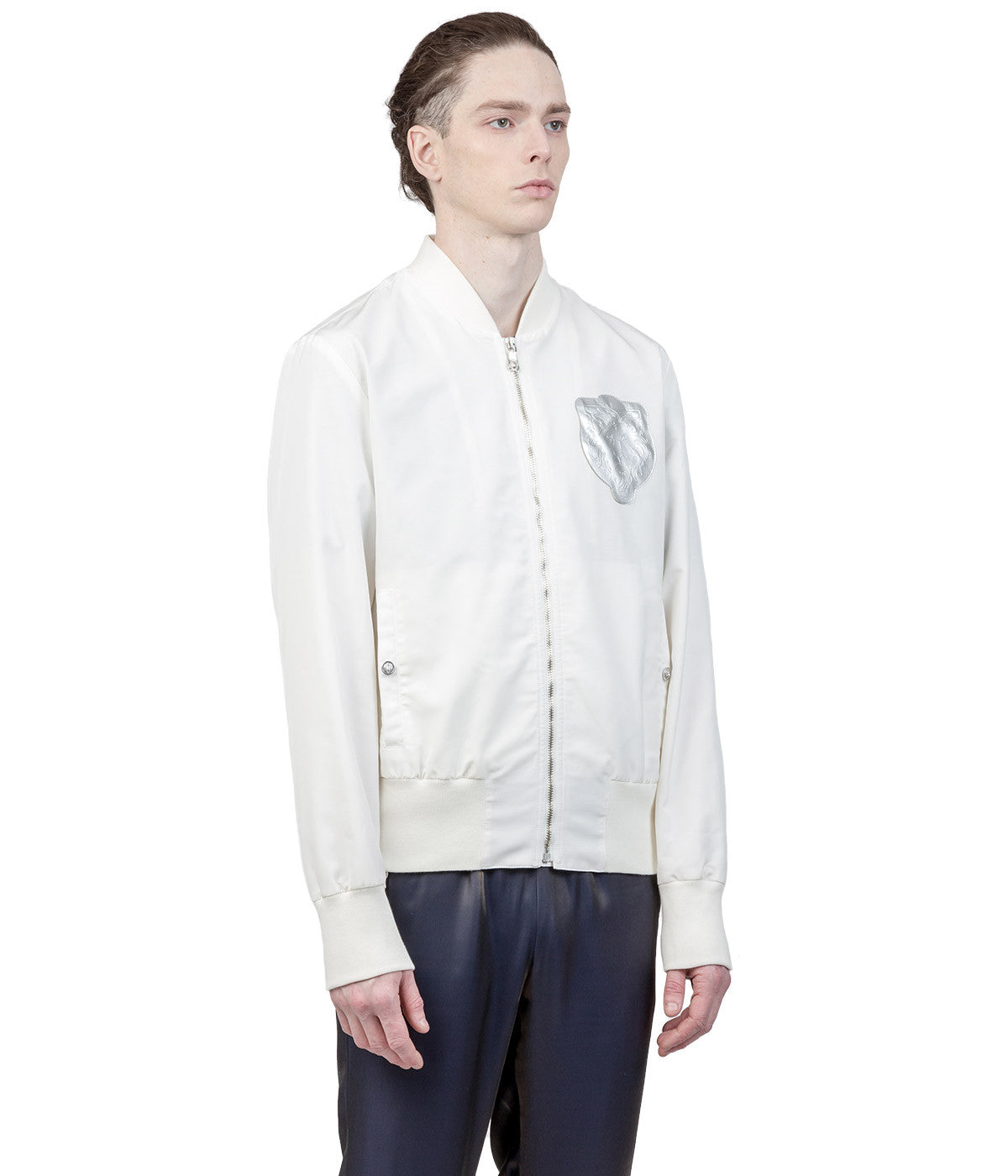 White Logo Bomber Jacket