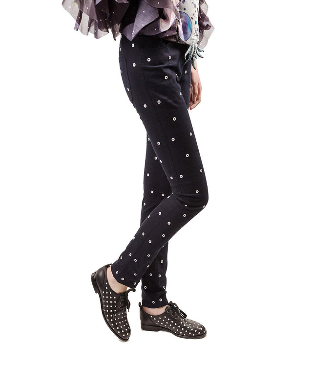 Skinny Jeans with White Rivets
