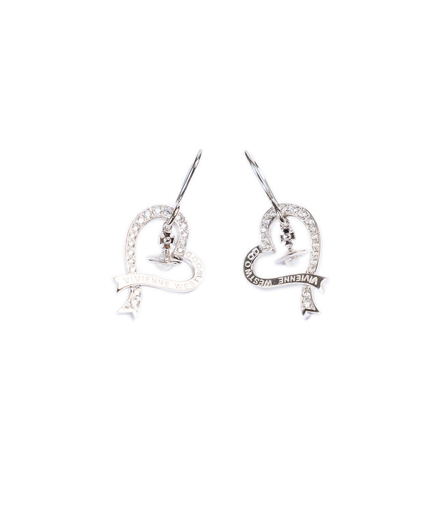 Sterling Silver Heart Drop Earrings